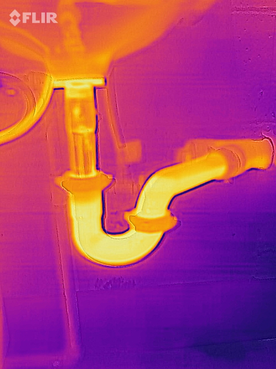 drain detection in walls and ceilings with thermal imaging